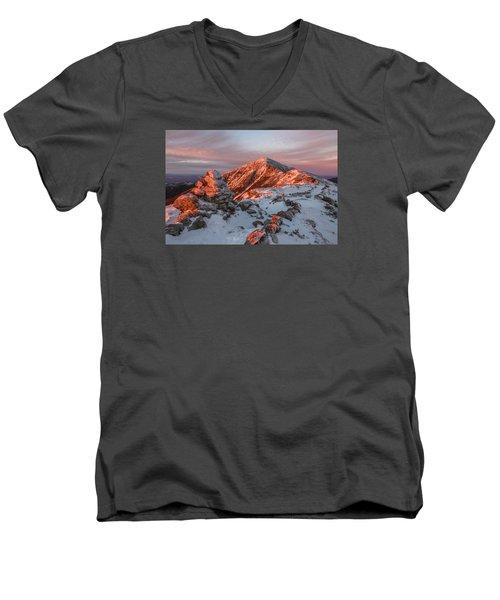 Franconia Ridge Alpenglow Men's V-Neck T-Shirt