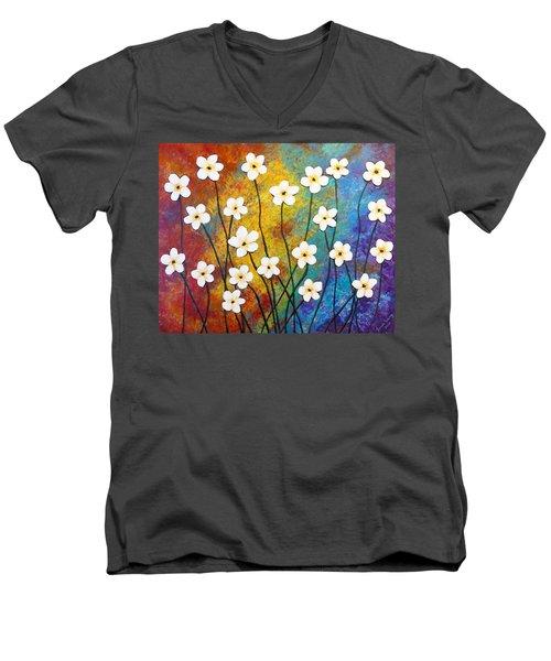 Frangipani Explosion Men's V-Neck T-Shirt