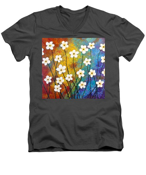 Frangipani Explosion Men's V-Neck T-Shirt