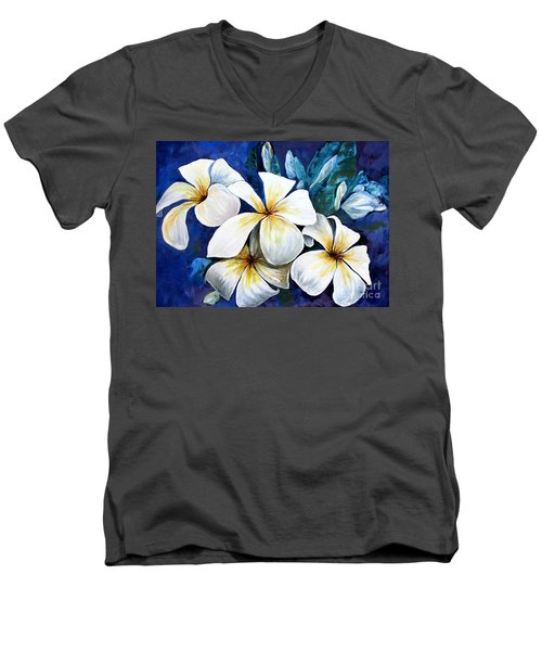 Frangipani Men's V-Neck T-Shirt