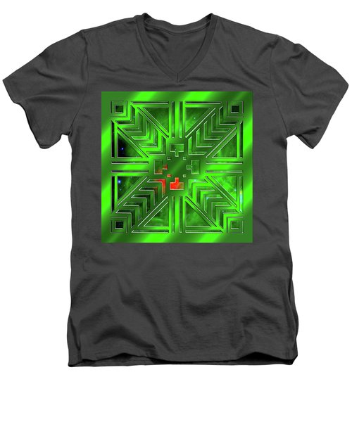 Frank Lloyd Wright Design Men's V-Neck T-Shirt