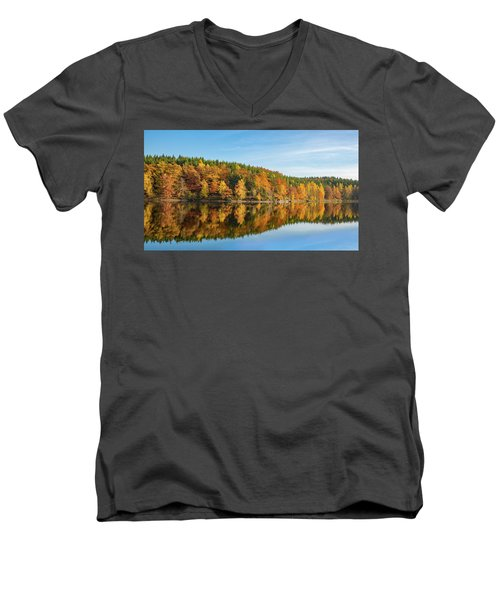 Frankenteich, Harz Men's V-Neck T-Shirt by Andreas Levi