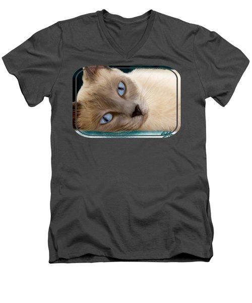 Frankie Blue Eyes Men's V-Neck T-Shirt
