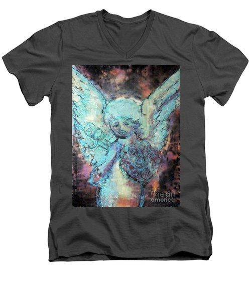 Franklin Angel Men's V-Neck T-Shirt