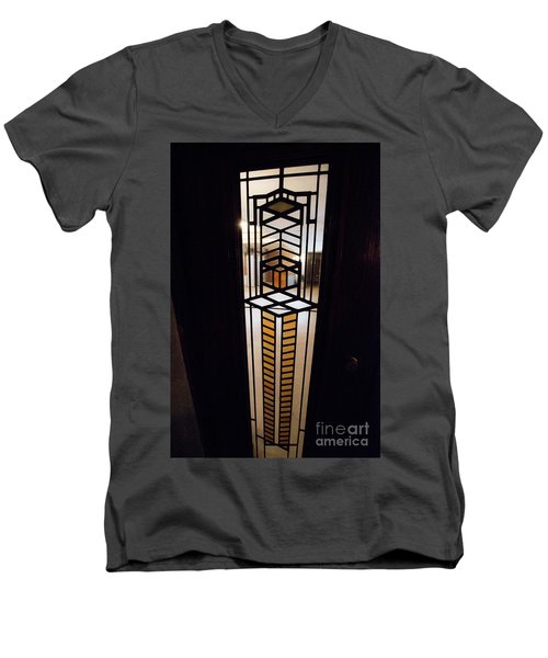 Frederick Robie House - 3 Men's V-Neck T-Shirt by David Bearden