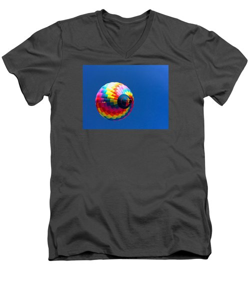 Men's V-Neck T-Shirt featuring the photograph Free by Brenda Pressnall