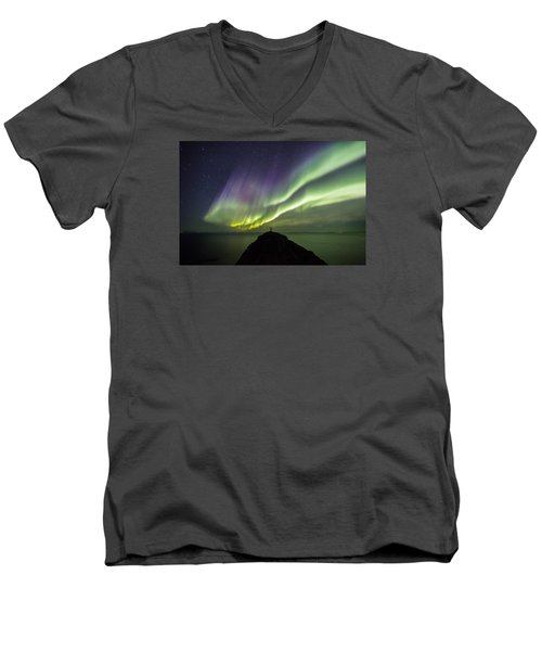 Freedom Men's V-Neck T-Shirt by Alex Conu
