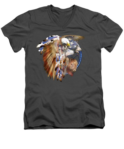 Freedom Lives Men's V-Neck T-Shirt
