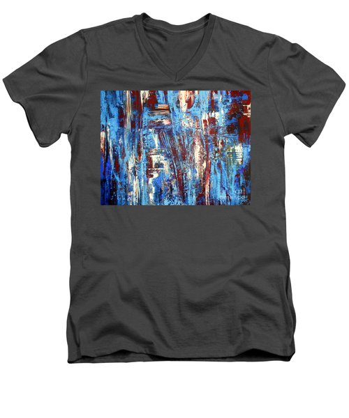 Freedom Of Expression Men's V-Neck T-Shirt by Valerie Travers