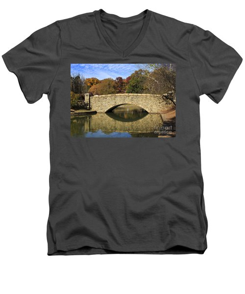 Freedom Park Bridge Men's V-Neck T-Shirt