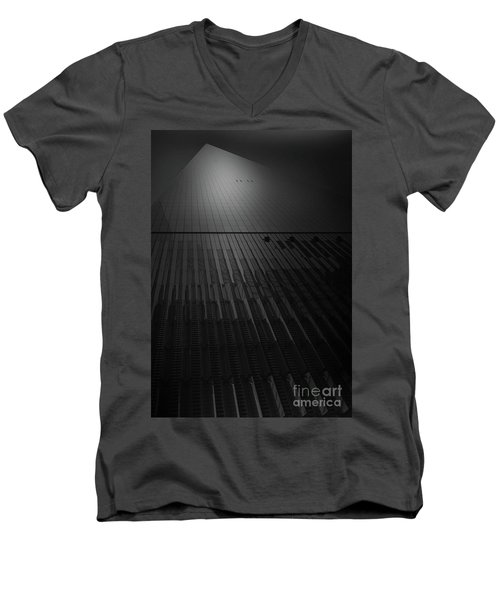 Men's V-Neck T-Shirt featuring the photograph Freedom Point by Paul Cammarata