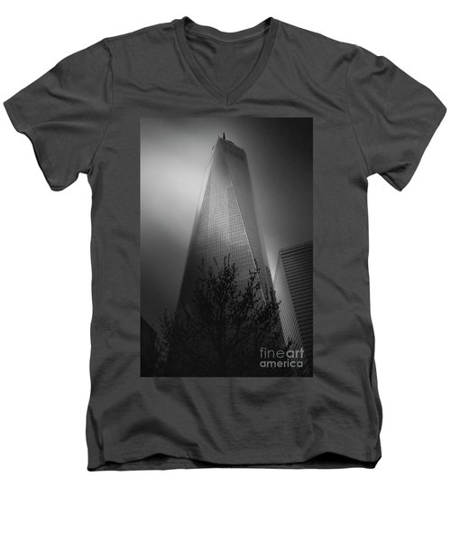 Men's V-Neck T-Shirt featuring the photograph Freedom Tower by Paul Cammarata