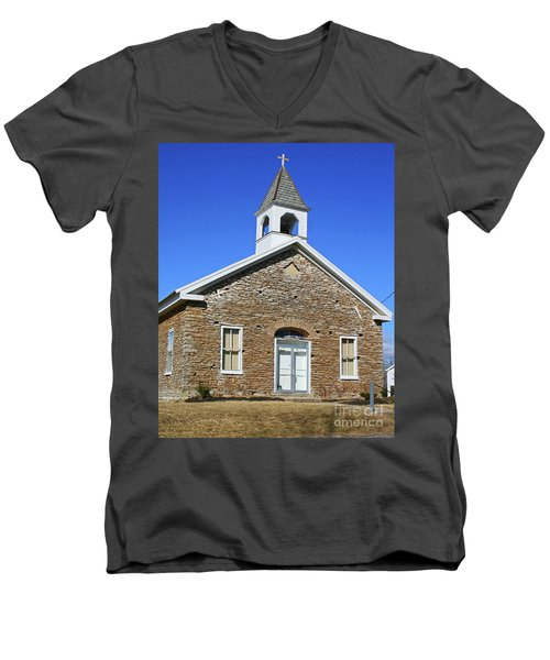 Freedonia Baptist Church Men's V-Neck T-Shirt