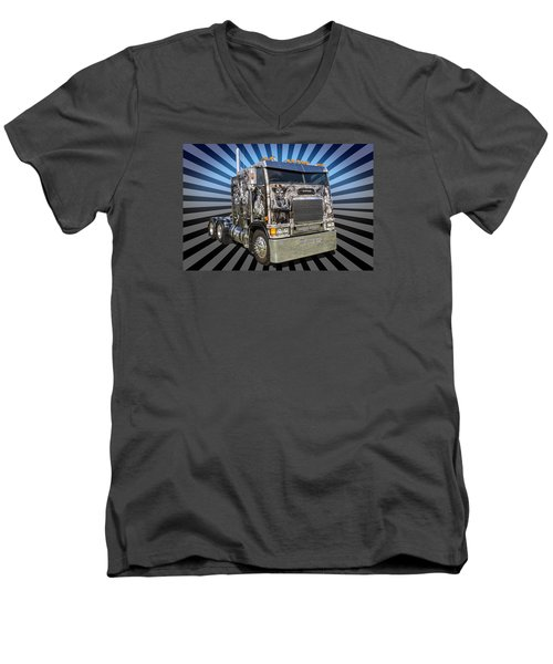 Men's V-Neck T-Shirt featuring the photograph Freightliner by Keith Hawley