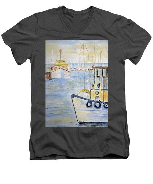 Fremantle Western Australia Men's V-Neck T-Shirt by Elvira Ingram