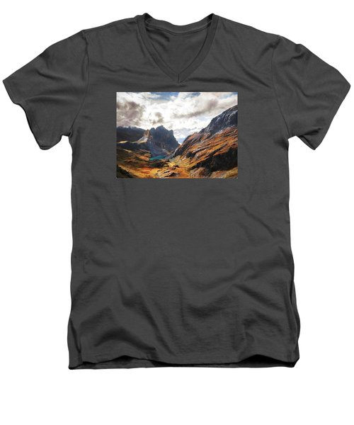 French Alps Men's V-Neck T-Shirt
