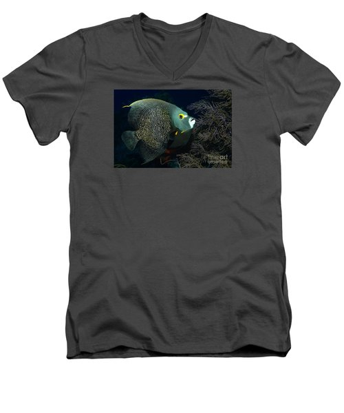 Men's V-Neck T-Shirt featuring the photograph French Angel by Aaron Whittemore