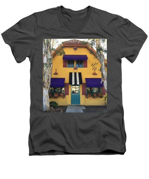 Men's V-Neck T-Shirt featuring the photograph French Delectables by Peggy Stokes