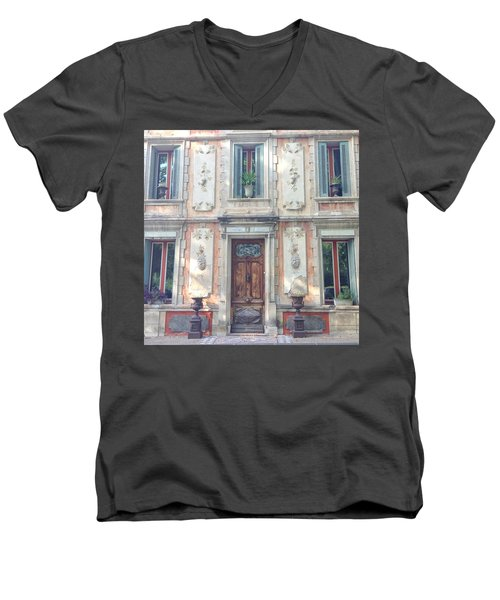 French Door Men's V-Neck T-Shirt by Catherine Alfidi