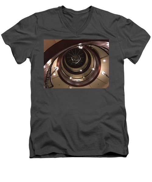 French Quarter Spiral Men's V-Neck T-Shirt