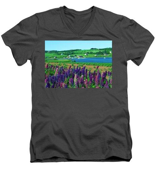 French River, Prince Edward Island Men's V-Neck T-Shirt