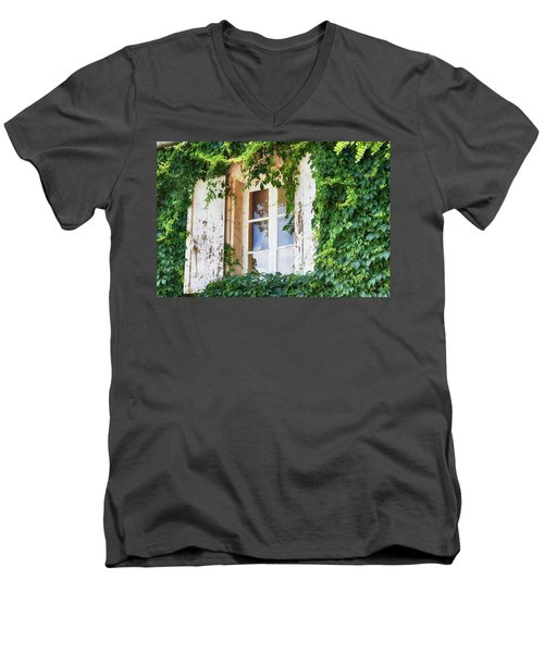 French Window In Provence Men's V-Neck T-Shirt