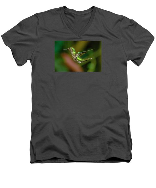 Frequent Flyer 2, Mindo Cloud Forest, Ecuador Men's V-Neck T-Shirt by Venetia Featherstone-Witty
