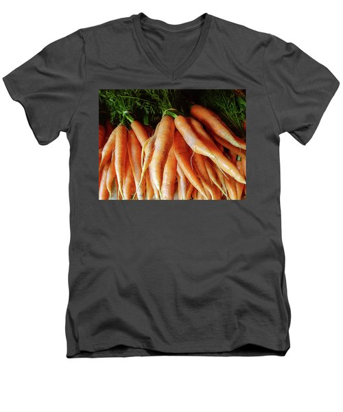 Fresh Carrots From The Summer Garden Men's V-Neck T-Shirt by GoodMood Art