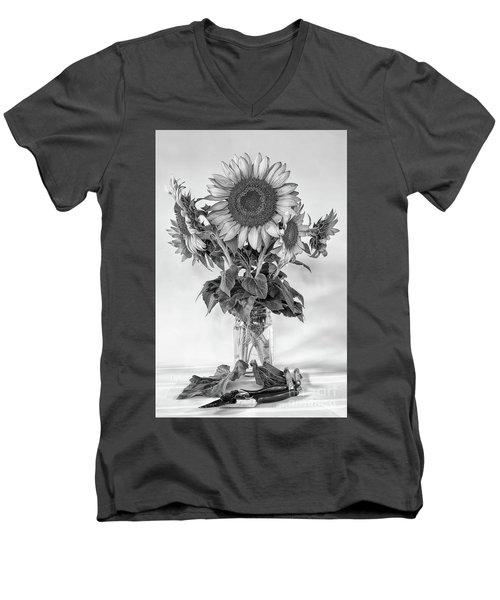 Fresh Cut Men's V-Neck T-Shirt by Nicki McManus
