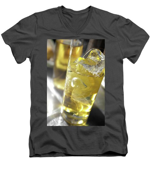 Men's V-Neck T-Shirt featuring the photograph Fresh Drink With Lemon by Carlos Caetano