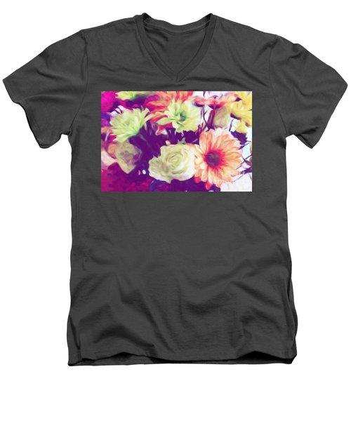 Fresh Flowers Men's V-Neck T-Shirt