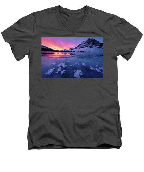 Fresh Ice On Bow Lake Men's V-Neck T-Shirt