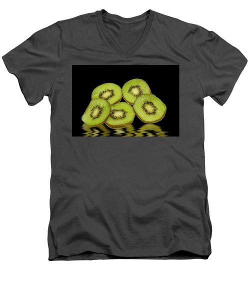 Fresh Kiwi Fruits Men's V-Neck T-Shirt by David French