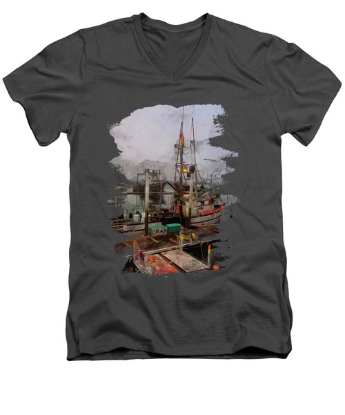 Fresh Live Crab Men's V-Neck T-Shirt