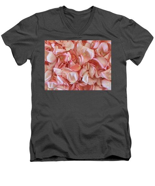 Fresh Rose Petals Men's V-Neck T-Shirt