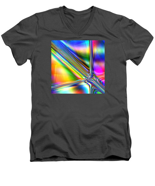 Men's V-Neck T-Shirt featuring the digital art Freshly Squeezed by Andreas Thust