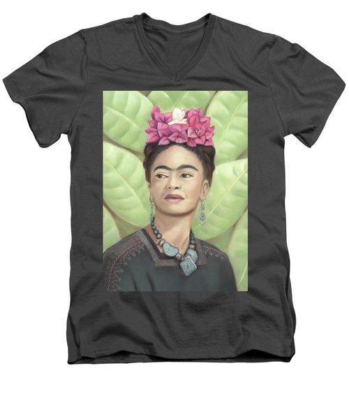 Frida Kahlo Men's V-Neck T-Shirt