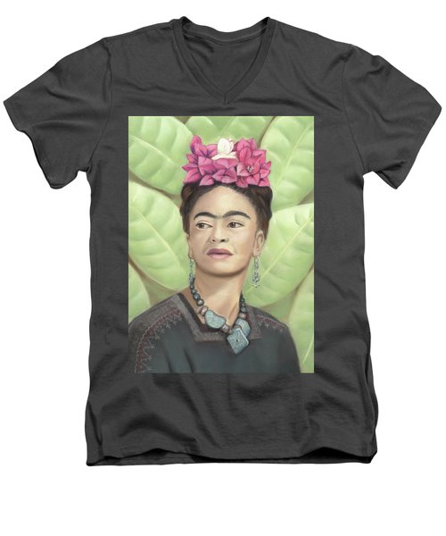 Frida Kahlo Men's V-Neck T-Shirt
