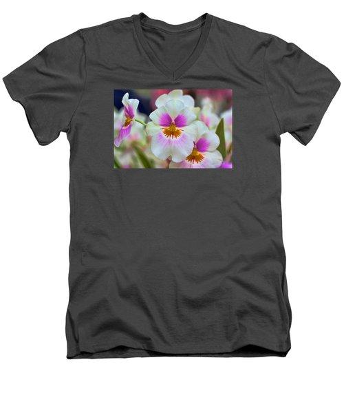 Friday Flowers Men's V-Neck T-Shirt by Nadia Sanowar
