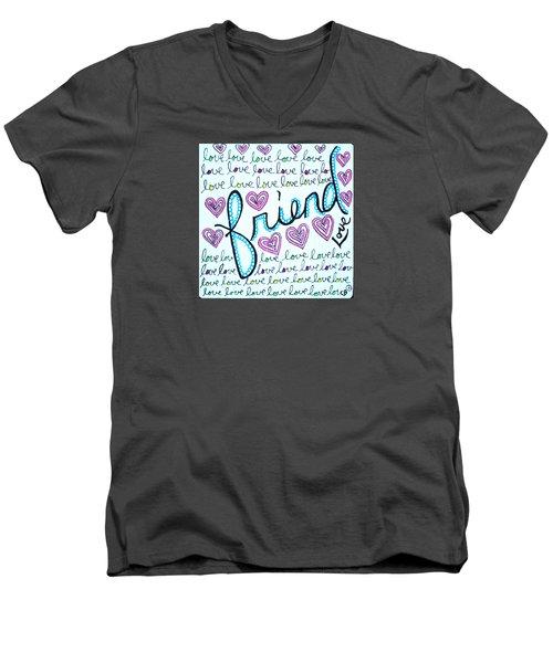Friend Men's V-Neck T-Shirt