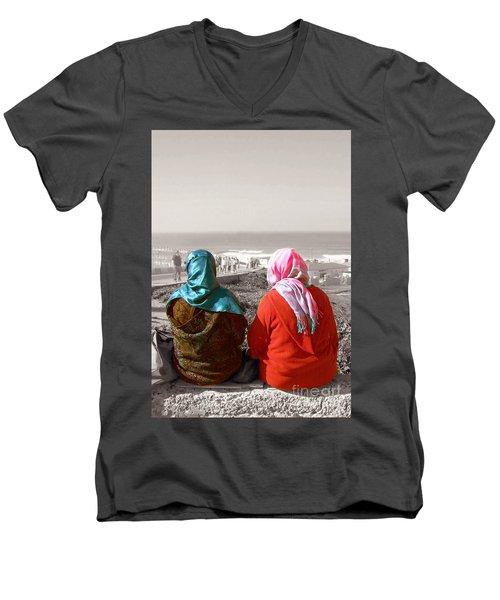 Friends, Morocco Men's V-Neck T-Shirt by Susan Lafleur