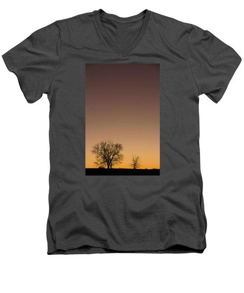 Men's V-Neck T-Shirt featuring the photograph Friends Awaiting Sunrise by Monte Stevens