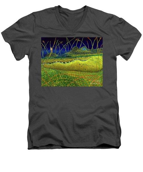 Swamp Gathering Men's V-Neck T-Shirt by David Joyner