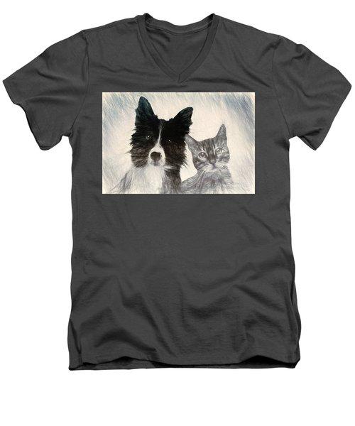 Friends For Life Men's V-Neck T-Shirt