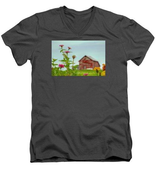 Friends Of Flowers Men's V-Neck T-Shirt