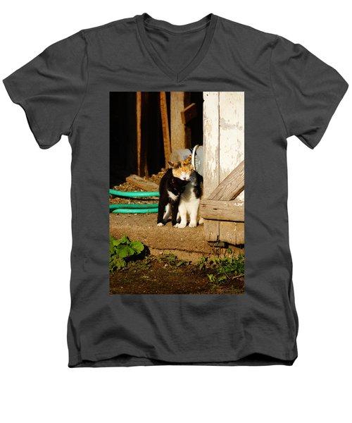 Friends Men's V-Neck T-Shirt by Steven Clipperton