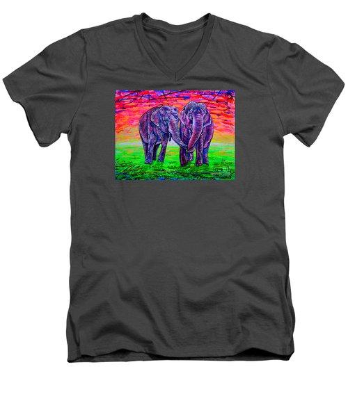 Friends Men's V-Neck T-Shirt by Viktor Lazarev