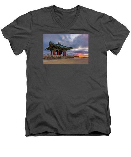 Friendship Men's V-Neck T-Shirt by Tassanee Angiolillo