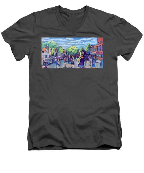 Frisco Bbq Festival 2017 Men's V-Neck T-Shirt