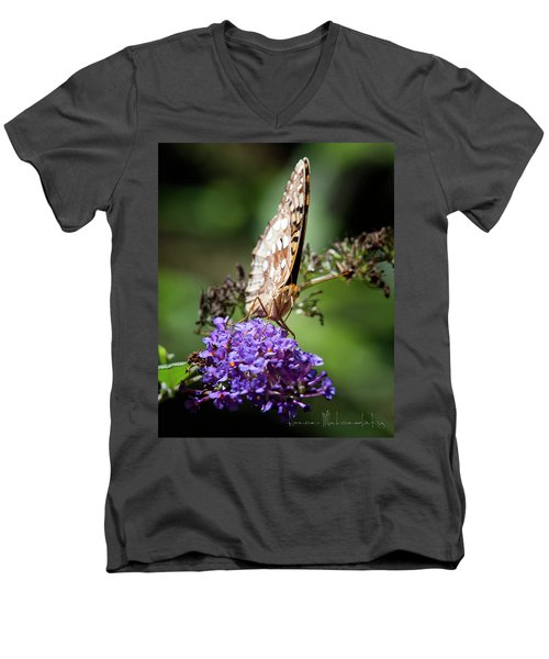 Fritillary Men's V-Neck T-Shirt